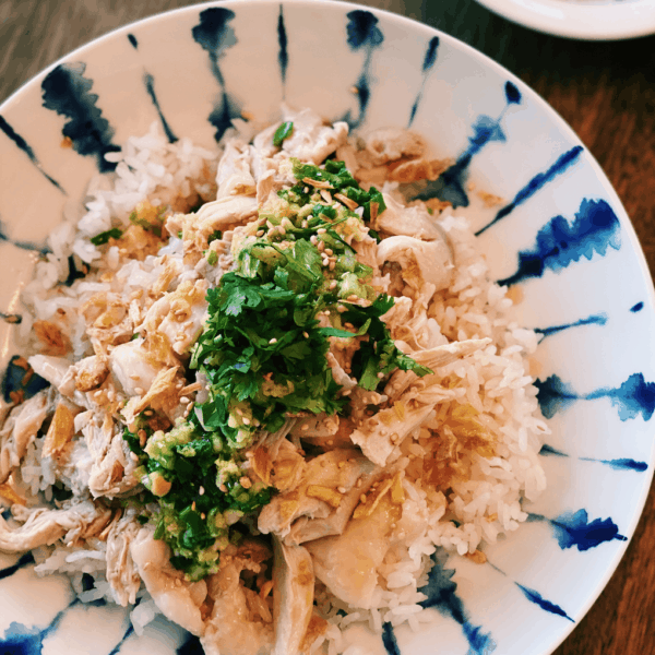 Chicken & Rice with Scallion-Ginger Oil
