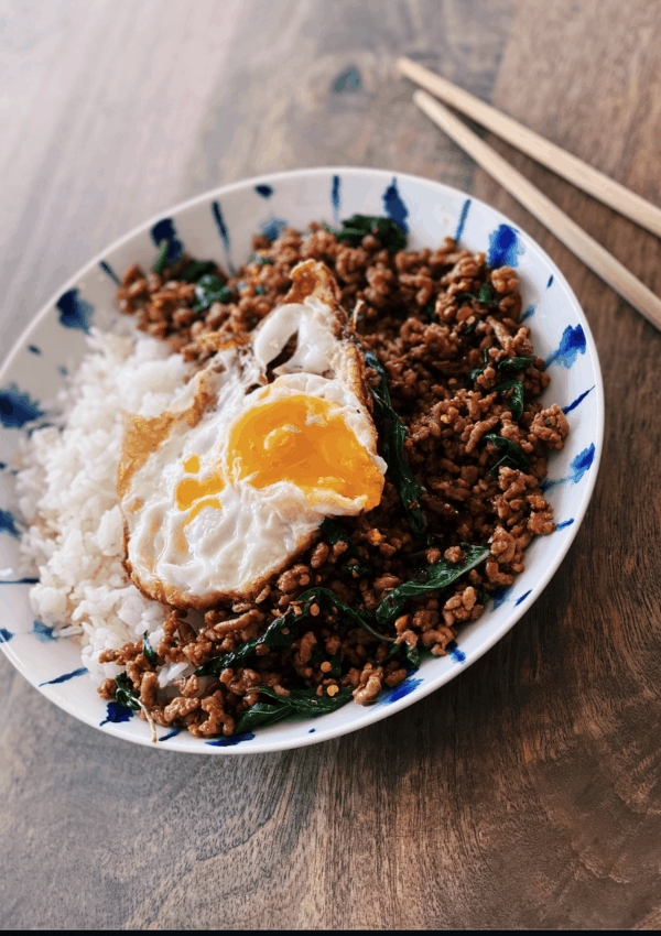 Thai Basil & Pork Stir-Fry (Pad Gra Pao)
