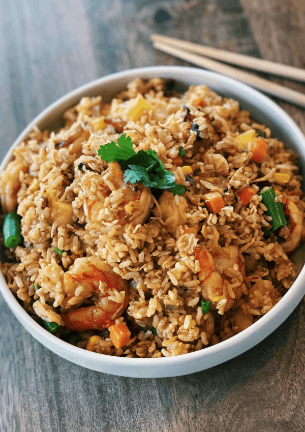 Curry Pineapple & Shrimp Fried Rice