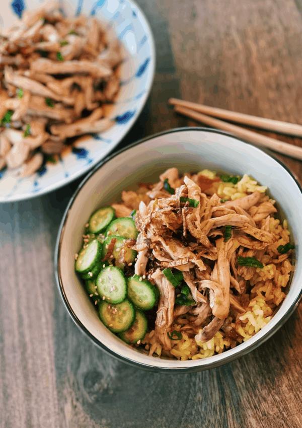Taiwanese Shredded Chicken Rice