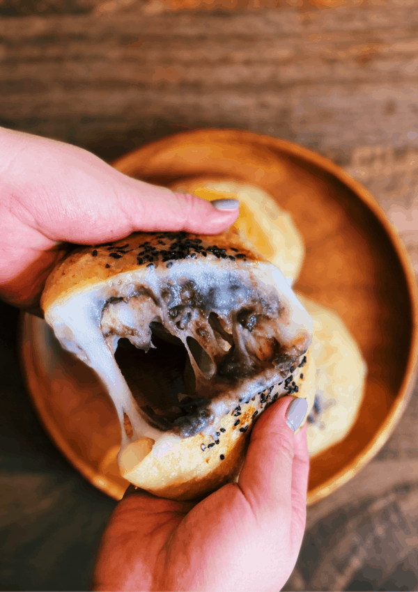 Sticky Mochi Pancake with Red Bean Paste