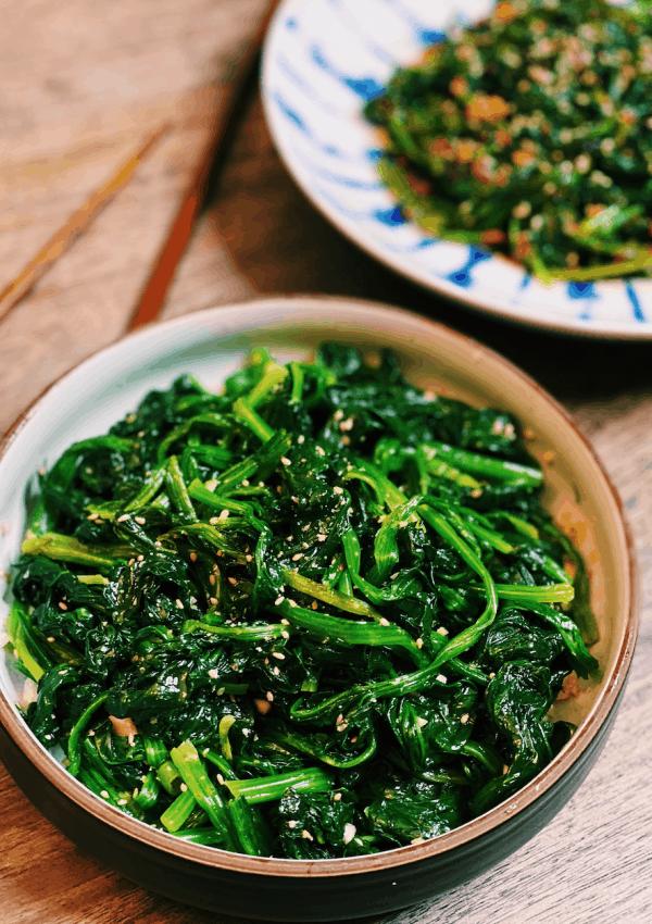 Korean Spinach Salad