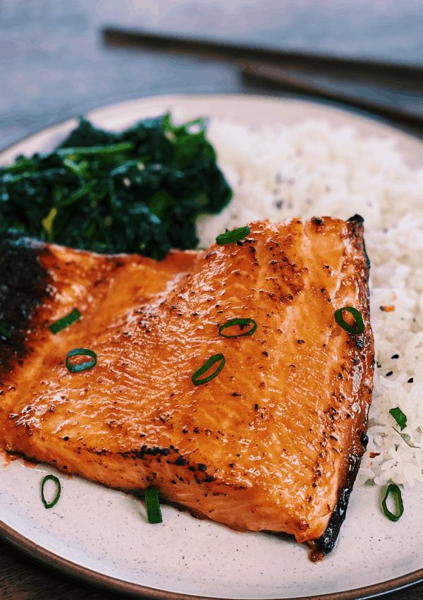 Miso-Glazed Salmon (Air Fryer Recipe)