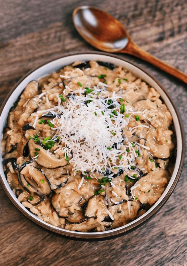 Japanese Mushroom Risotto – EXTRA CREAMY!