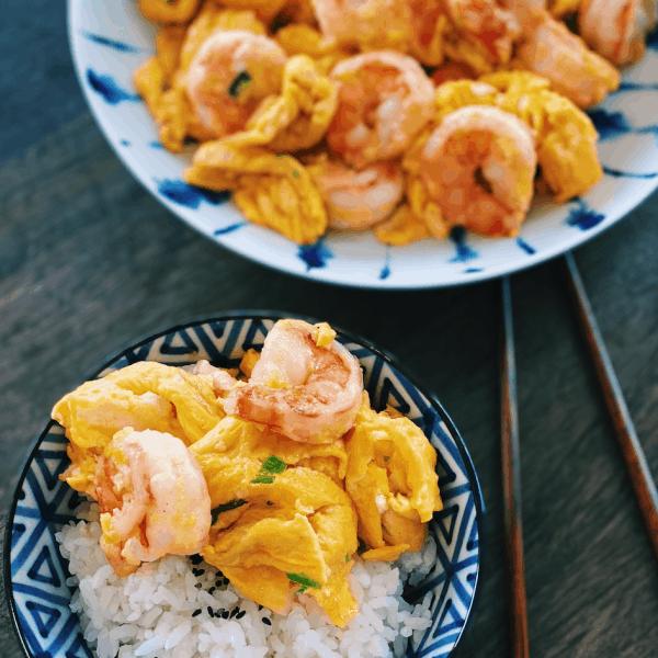 Shrimp and Eggs Stir-fry