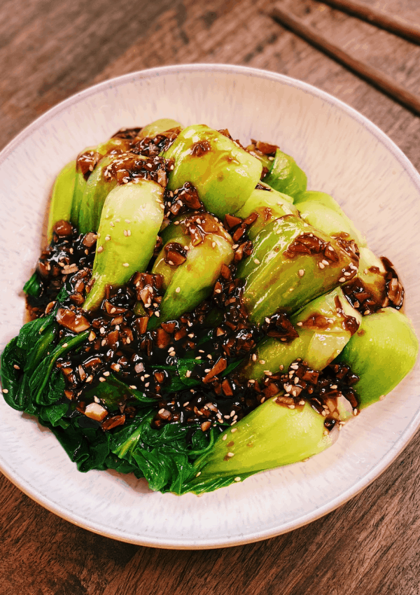 Bok Choy with Garlic Sauce (10 Minutes ONLY!)