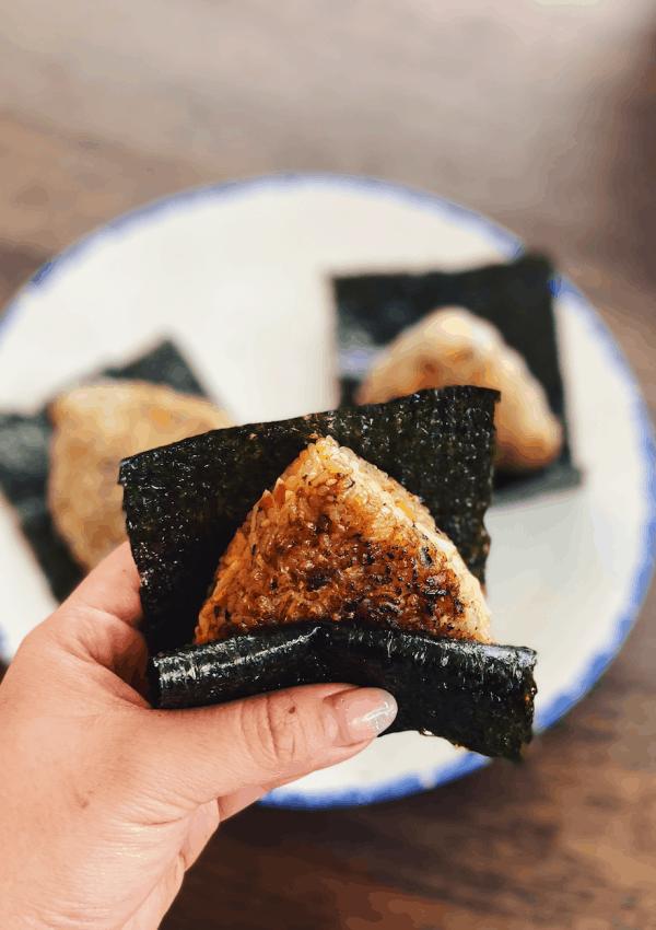 Creamy Crab Onigiri Rice Ball