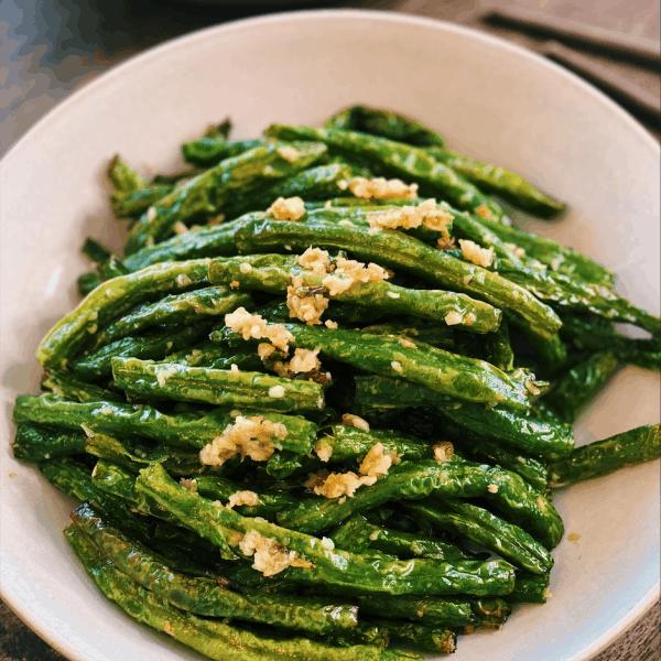 Style Stir-Fried Garlic Green Beans